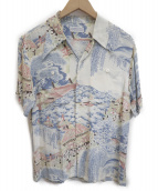 Sun Surf(サンサーフ)の古着「アロハシャツ」 ホワイト×ブルー