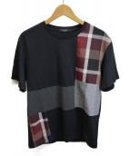 BLACK LABEL CRESTBRIDGE(ブラックレーベルクレストブリッジ)の古着「切替Tシャツ」 ブラック