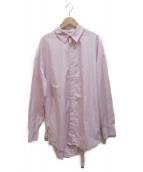 BED J.W. FORD(ベッドフォード)の古着「ベルトシャツ」|ピンク