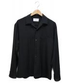 STUDIOUS(ステュディオス)の古着「スピドレーオープンカラーシャツ」|ブラック