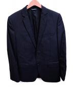 DOLCE & GABBANA(ドルチェアンドガッバーナ)の古着「ストライプセットアップ」|ブラック