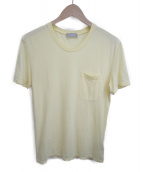 Dior Homme(ディオールオム)の古着「ビー刺繍ポケットTシャツ」|イエロー