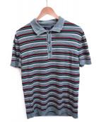 GUCCI(グッチ)の古着「シェリーニットポロシャツ」|グリーン×レッド