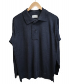 JOHN SMEDLEY(ジョンスメドレ)の古着「ニットポロシャツ」|ネイビー