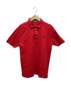 BURBERRY BLACK LABEL(バーバリーブラックレーベル)の古着「ホース刺繍ポロシャツ」|レッド