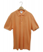 HERMES(エルメス)の古着「Hロゴポロシャツ」|オレンジ