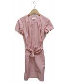 ESCADA(エスカーダ)の古着「ナイロンサックワンピース」 ピンク