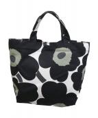 marimekko(マリメッコ)の古着「ウニッコトートバッグ」|ブラック×ホワイト