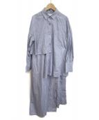 ENFOLD(エンフォルド)の古着「レイヤードワンピース」|ブルー