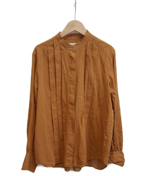 STEVEN ALAN(スティーブンアラン)STEVEN ALAN (スティーヴンアラン) COTTON VOILE BLOUSE キャメル サイズ:Mの古着・服飾アイテム
