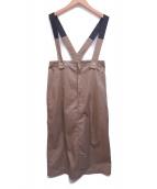 UNIVERSAL OVERALL(ユニバーサルオーバーオール)の古着「サスペンダースカート」|ベージュ