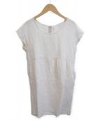 LE GLAZIK(ルグラジック)の古着「ブラウスワンピース」|アイボリー