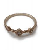 ete(エテ)の古着「ダイヤ付K10リング」|ゴールド