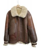 Golden Bear(ゴールデンベア)の古着「B-3ムートンフライトジャケット」|ブラウン