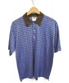 HERMES(エルメス)の古着「エレファントプリントポロシャツ」|ブルー