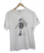 MONCLER(モンクレール)の古着「クライマープリントカットソー」|ホワイト