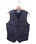JAPAN BLUE(ジャパンブルー)の古着「ごま塩ワークベスト」|グレー