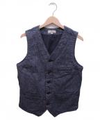 JAPAN BLUE(ジャパンブルー)の古着「ごま塩ワークベスト」 グレー