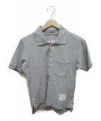 Thom Browne(トムブラウン)の古着「トリコロールポロシャツ」|グレー