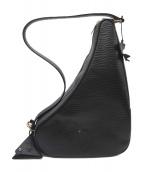 中澤鞄(ナカザワカバン)の古着「ゴブランライニングレザースリングバッグ」|ブラック