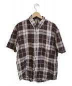PAPAS(パパス)の古着「リネンシャツ」|ブラウン