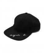 agnes b.(アニエスベー)の古着「ロゴキャップ」 ブラック