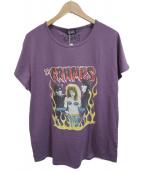 ()の古着「プリントTシャツ」 パープル