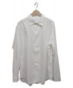 BRIONI(ブリオーニ)の古着「シルクコットンシャツ」|ホワイト