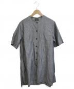 オローネ(オローネ)の古着「ブラウスワンピース」|グレー