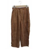 kha:ki(カーキ)の古着「CORD OVAL PANTS」|ブラウン