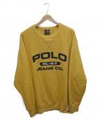 POLO JEANS CO.(ポロジーンズカンパニー)の古着「クルーネックスウェット」|イエロー
