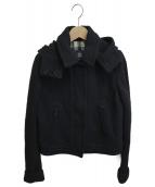 BURBERRY LONDON(バーバリーロンドン)の古着「ニット切替ジャケット」|ブラック