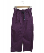 GRAMICCI(グラミチ)の古着「ベイカーロングスカート」 パープル