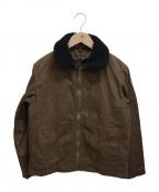 MHL(エムエイチエル)の古着「ウォシュドワックスドコットンマリンジャケット」|ブラウン