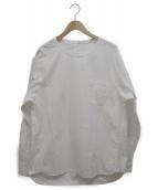 STEVEN ALAN(スティーヴンアラン)の古着「AZM BIG/GZ P/OVER/シャツ」 ホワイト