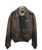 AVIREX(アビレックス)の古着「A-2レザージャケット」 ブラウン