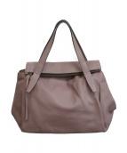 ()の古着「レザーハンドバッグ」|ピンク