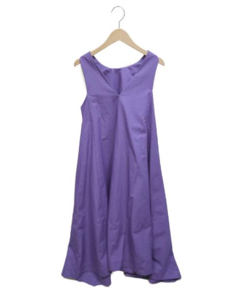 FRAY ID(フレイアイディー)FRAY ID (フレイアイディー) バックVタフタドレス パープル サイズ:SIZE 1の古着・服飾アイテム