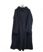 kei shirahata(ケイシラハタ)の古着「フーデッドコート」 ネイビー