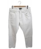 Calvin Klein Jeans(カルバンクラインジーンズ)の古着「プリントデニムパンツ」|ホワイト