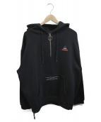 LEGENDA(レジェンダ)の古着「Hood Rose Embroidery Hoodie」|ブラック