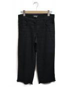 S Max Mara(エスマックスマーラ)の古着「カットオフリネンパンツ」|ブラック