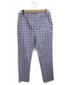 Weekend Max Mara(ウィークエンド)の古着「総柄パンツ」|ブルー
