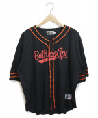 A BATHING APE(エイプ)の古着「baseball jersey shirt」|ネイビー