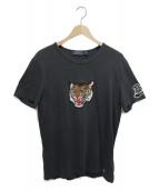 POLO RALPH LAUREN(ポロラルフローレン)の古着「ワッペンナンバリングTシャツ」|ブラック