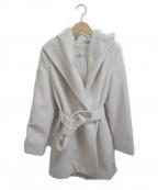Viaggio Blu(ビアッジョブルー)の古着「ウールアンゴラガウンコート」 ホワイト
