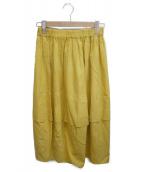 JURGEN LEHL(ヨーガンレール)の古着「ロングスカート」|イエロー