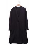 my Dartagnan(マイダルタニアン)の古着「スウェードノーカラーコート」|ブラック