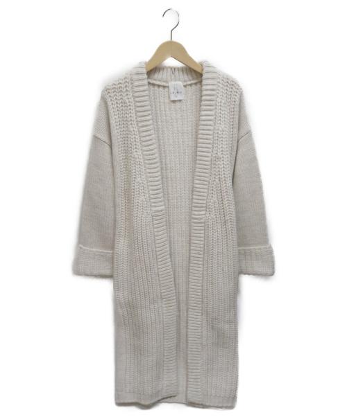 LOUNIE(ルーニィ)LOUNIE (ルーニィ) アルパカ混ニットカーディガン アイボリー サイズ:Fの古着・服飾アイテム