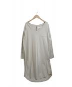 ()の古着「Asymmetric Cotton Dress」|ベージュ